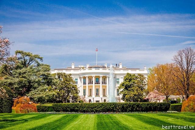 Hình 4 - Nhà Trắng, nơi ở và làm việc của các tổng thống Mỹ