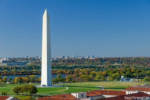Hình 6 - Tượng đài Washington, địa điểm ngắm cảnh tuyệt vời cho du khách