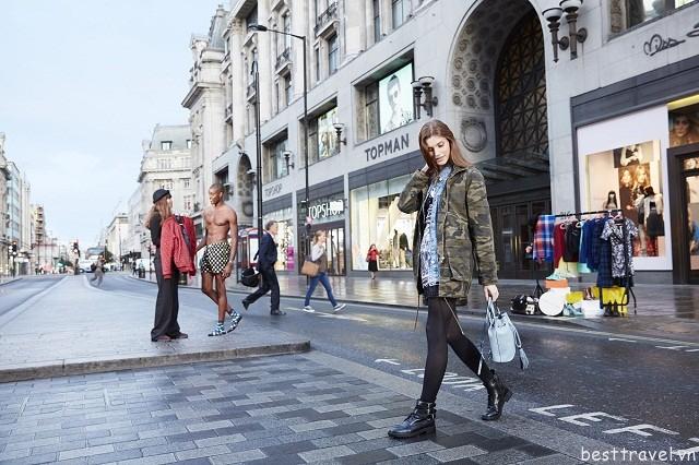 Shopping ở phố Oxford, nhiều khi bạn còn bắt gặp các siêu sao hàng đầu