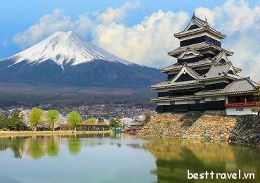 4 lâu đài tuyệt đẹp của Nhật Bản