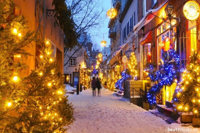 3 thành phố đón Giáng sinh rộn ràng nhất Canada