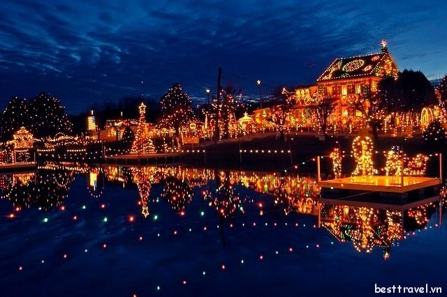 4 thị trấn Giáng sinh tuyệt đẹp của nước Mỹ