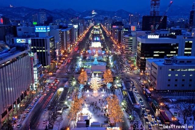 Lễ hội tuyết Sapporo nổi bật của vùng Hokkaido