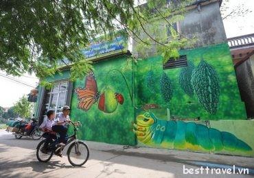 Khám phá làng bích họa đậm chất Việt Nam ở Hà Nội