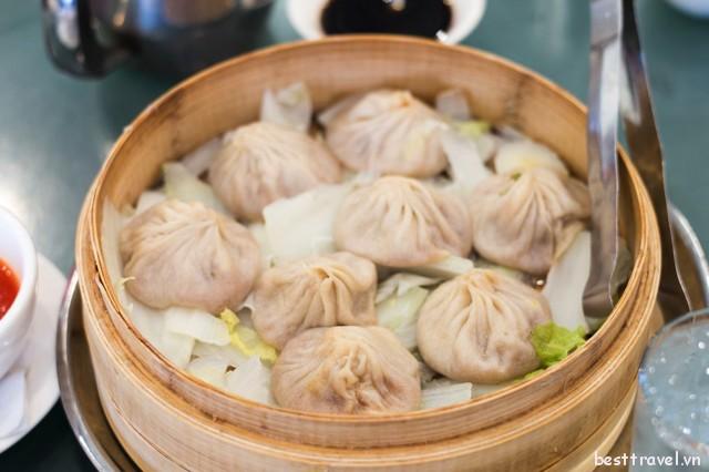 Bánh bao súp truyền thống Thượng Hải tại nhà hàng Joe's Shanghai