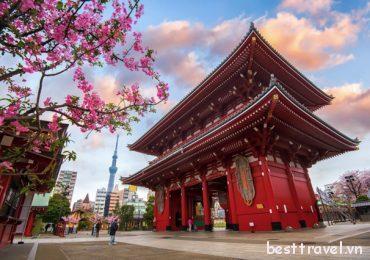 Đền Sensoji – Ngôi đền Phật giáo được tôn kính ở Tokyo